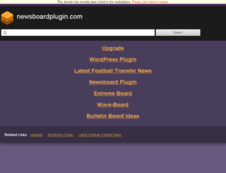 newsboardplugin.com screenshot