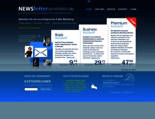 newsletter-verschicken.de screenshot