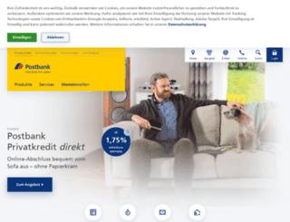newsletter.postbank.de screenshot