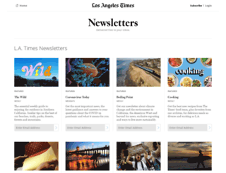 newsletters.latimes.com screenshot