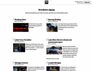 newsletters.mlive.com screenshot