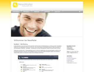 newsmailer.ch screenshot