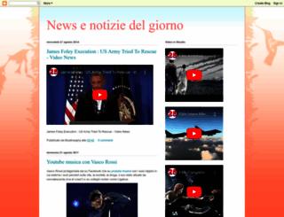 newsnotiziedelgiorno.blogspot.com screenshot