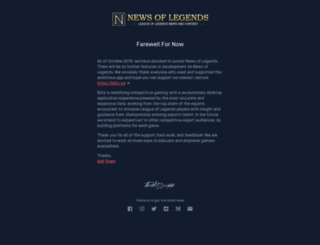 newsoflegends.com screenshot