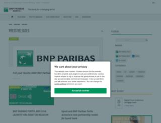 newsroom.bnpparibasfortis.com screenshot