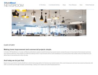 newsroom.builddirect.com screenshot