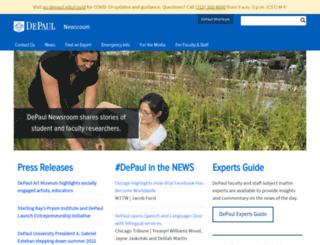 newsroom.depaul.edu screenshot