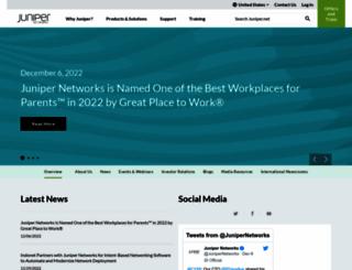 newsroom.juniper.net screenshot
