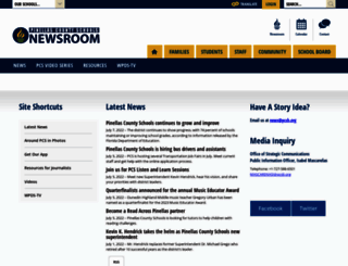 newsroom.pcsb.org screenshot