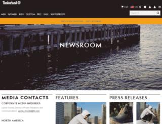 newsroom.timberland.com screenshot