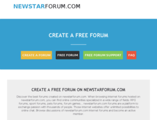 newstarforum.com screenshot