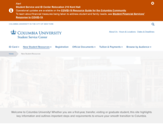 newstudents.columbia.edu screenshot