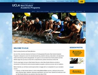 newstudents.ucla.edu screenshot