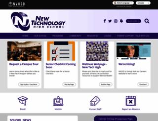 newtechhigh.org screenshot