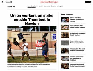 newtondailynews.com screenshot