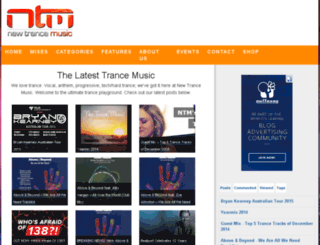 newtrancemusic.com.au screenshot