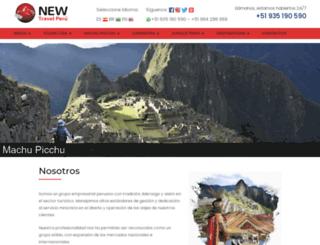 newtravelperu.com screenshot