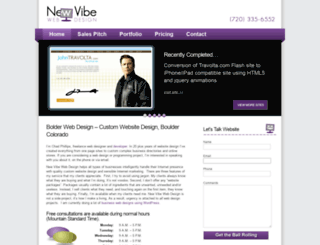newvibewebdesign.com screenshot
