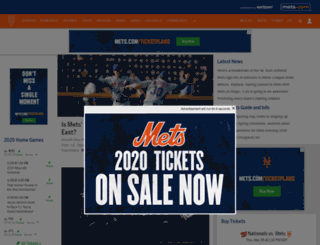 newyork.mets.mlb.com screenshot