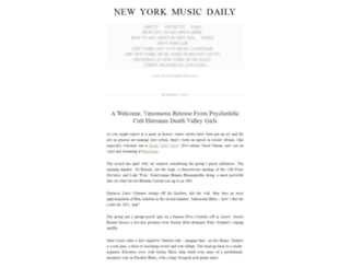 newyorkmusicdaily.wordpress.com screenshot