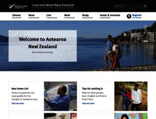 newzealandnow.govt.nz screenshot