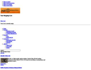 nex-robotics.com screenshot