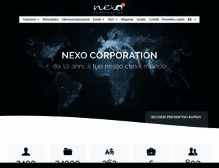 nexocorp.com screenshot