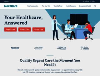nextcare.com screenshot