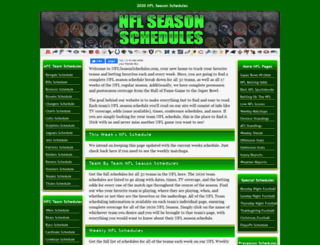 nflseasonschedules.com screenshot