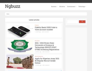 ngbuzz.com screenshot