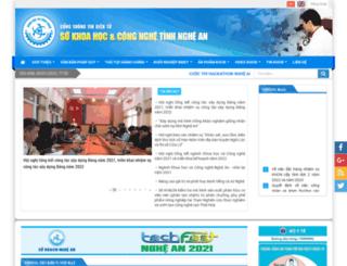 ngheandost.gov.vn screenshot