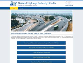 nhai.org.in screenshot