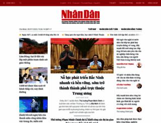 nhandan.com.vn screenshot