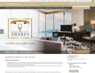 nhatrang.intercontinental.com screenshot