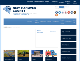 nhclibrary.org screenshot