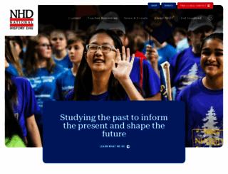 nhd.org screenshot