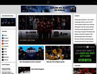 nhle.com screenshot