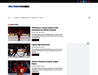 nhltraderumors.me screenshot