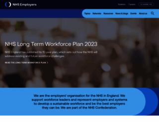 nhsemployers.org screenshot
