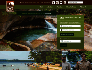 nhstateparks.org screenshot