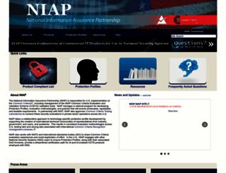 niap-ccevs.org screenshot