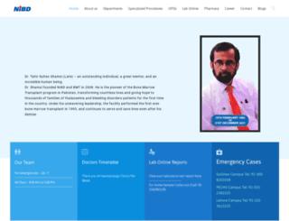 nibd.edu.pk screenshot