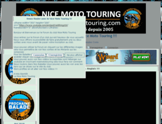 nicemototouring.positifforum.com screenshot