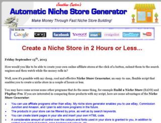nichestoregenerator.com screenshot