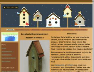 nichoir-mangeoire.ca screenshot