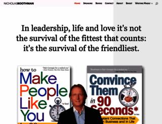 nicholasboothman.com screenshot