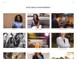nickdavisphotography.pixieset.com screenshot