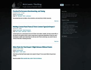 nicklewis.org screenshot