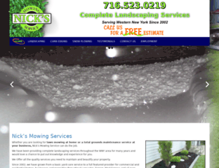 nicksmowingservice.com screenshot