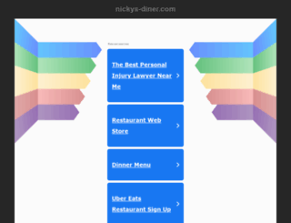 nickys-diner.com screenshot